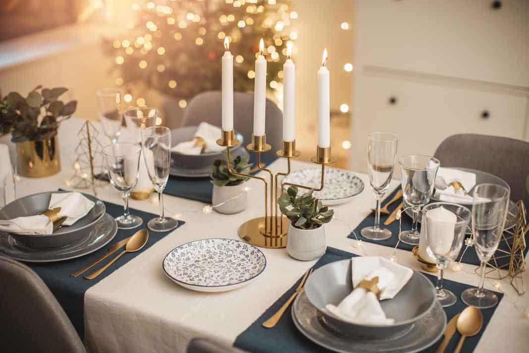 Moderne Tischdecke Weihnachten