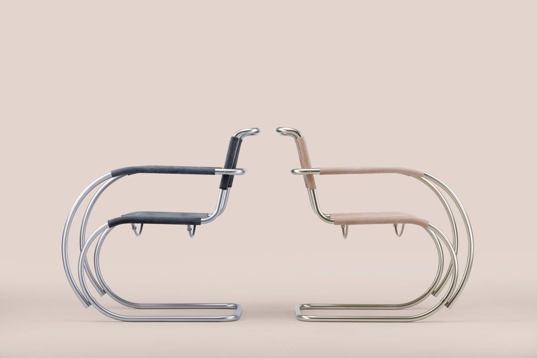 Neuinterpretation eines Stahlrohr-Klassikers S 533 F - Thonet Bauhaus by Studio Besau-Marguerre