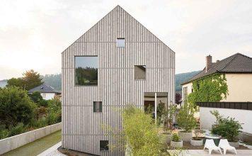nachhaltig bauen: modernes Klimaholzhaus