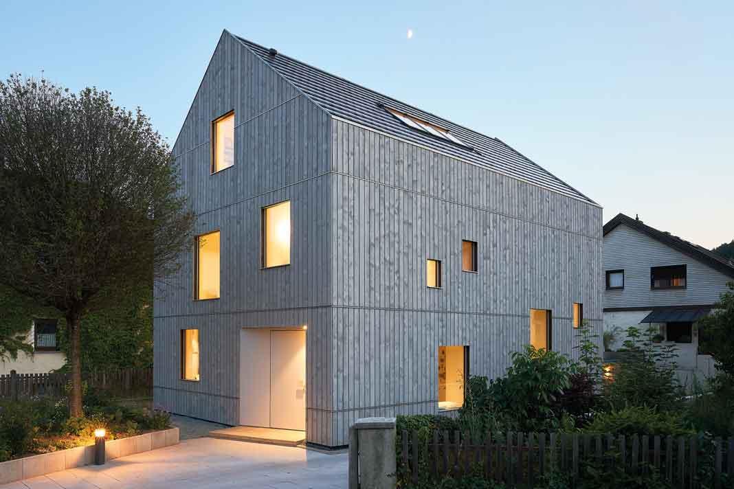 Klimaholzhaus mit Nachhaltigkeitszertifikat