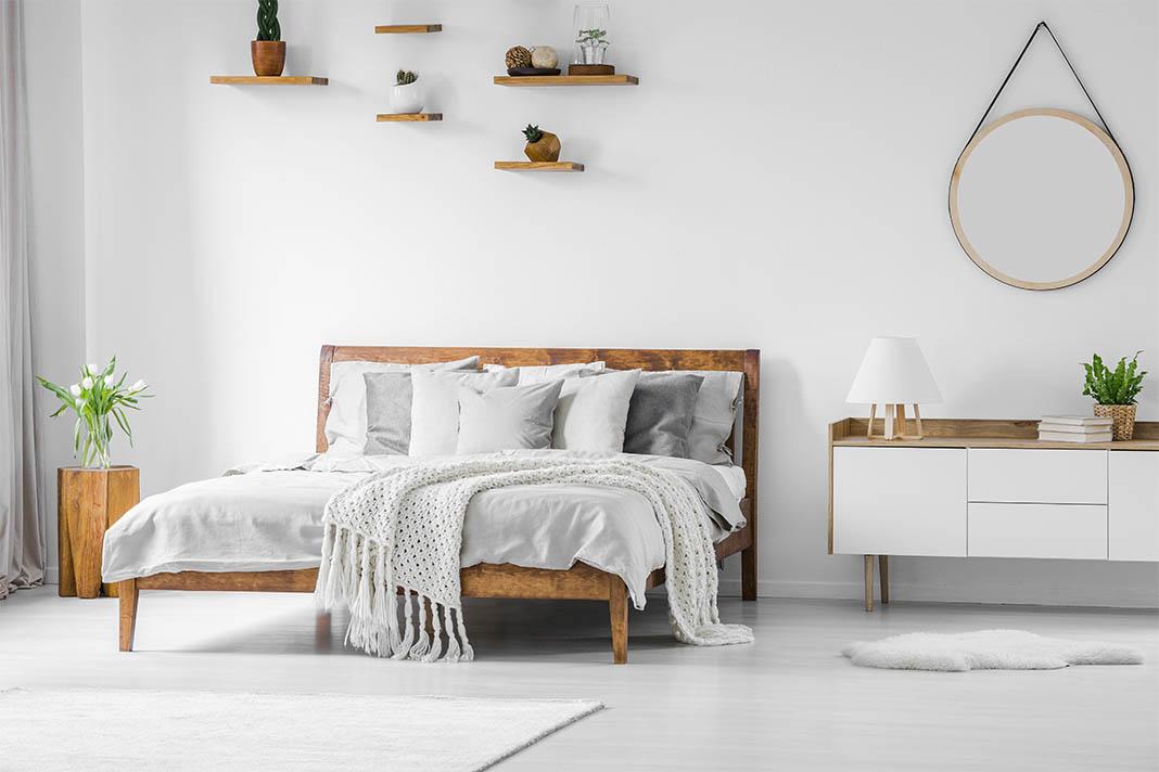 Modernes Schlafzimmer mit wohngesundem Raumklima