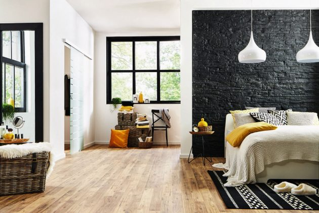 Laminatboden im Gewand eines Echtholzbodens - individueller Bodenbelag - Logoclic