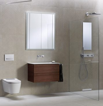 bodenebene Dusche - kleines Bad - Geberit