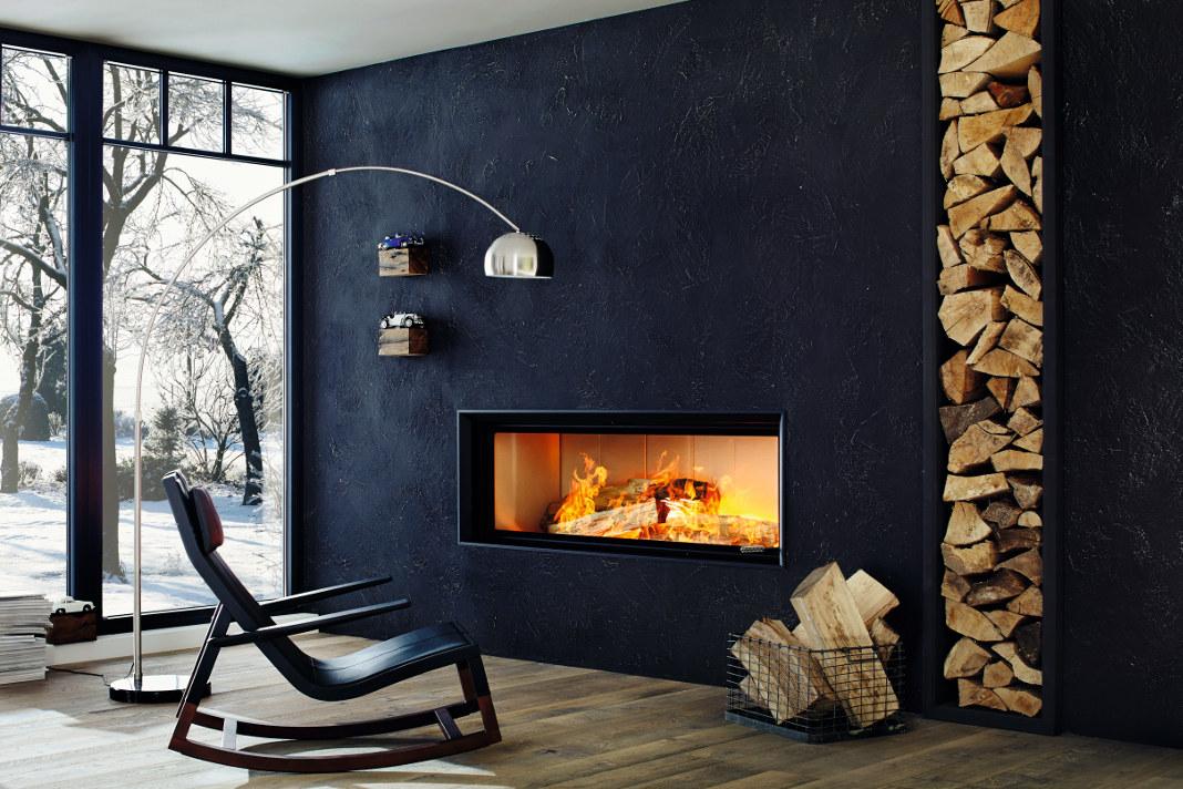 Modernes Design des Kamins - Brunner - Ökologisch Heizen