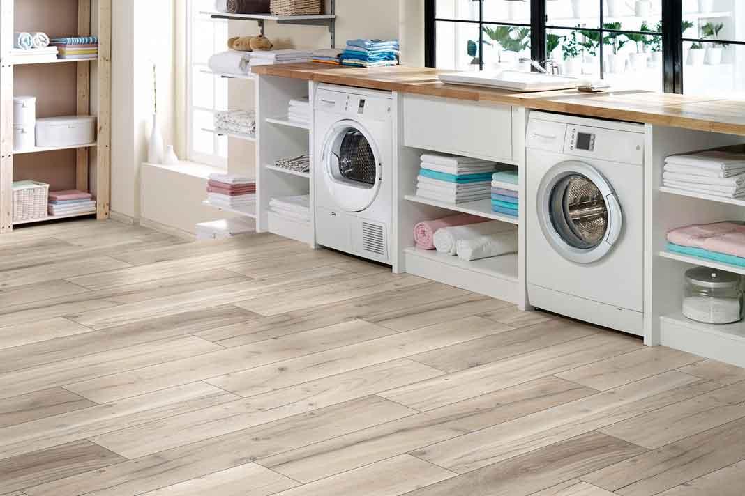 Klick Vinylboden Waschküche