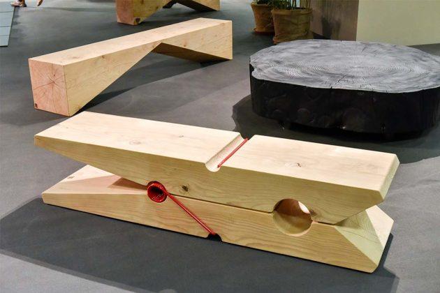 Sitzbank aus Holz imm cologne 2020