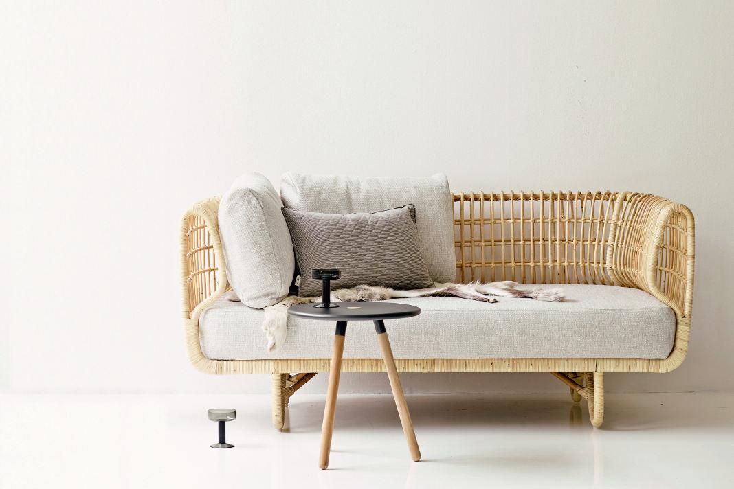 "Naturmaterial Rattan - Sofa ""Nest"" - einrichten-design.de"