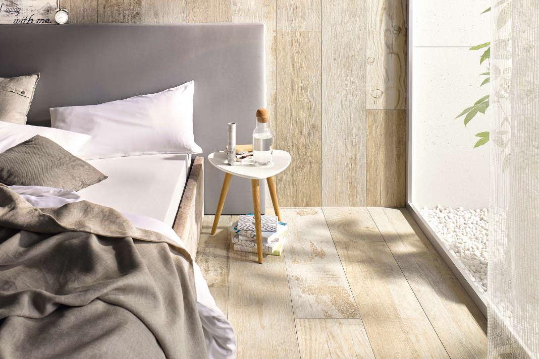 Fliesenboden in Holzoptik - Gutes Raumklima - Qualitätsinitiative Deutsche Fliese