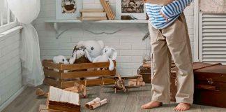 robuster Vinylboden mit Klick System in Holzoptik im Kinderzimmer