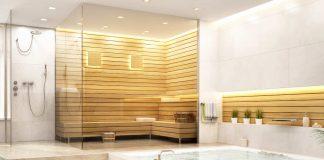 Wellness Bad mit Sauna