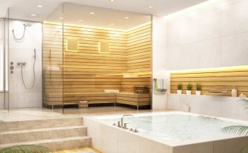 Wellness Bad mit Sauna