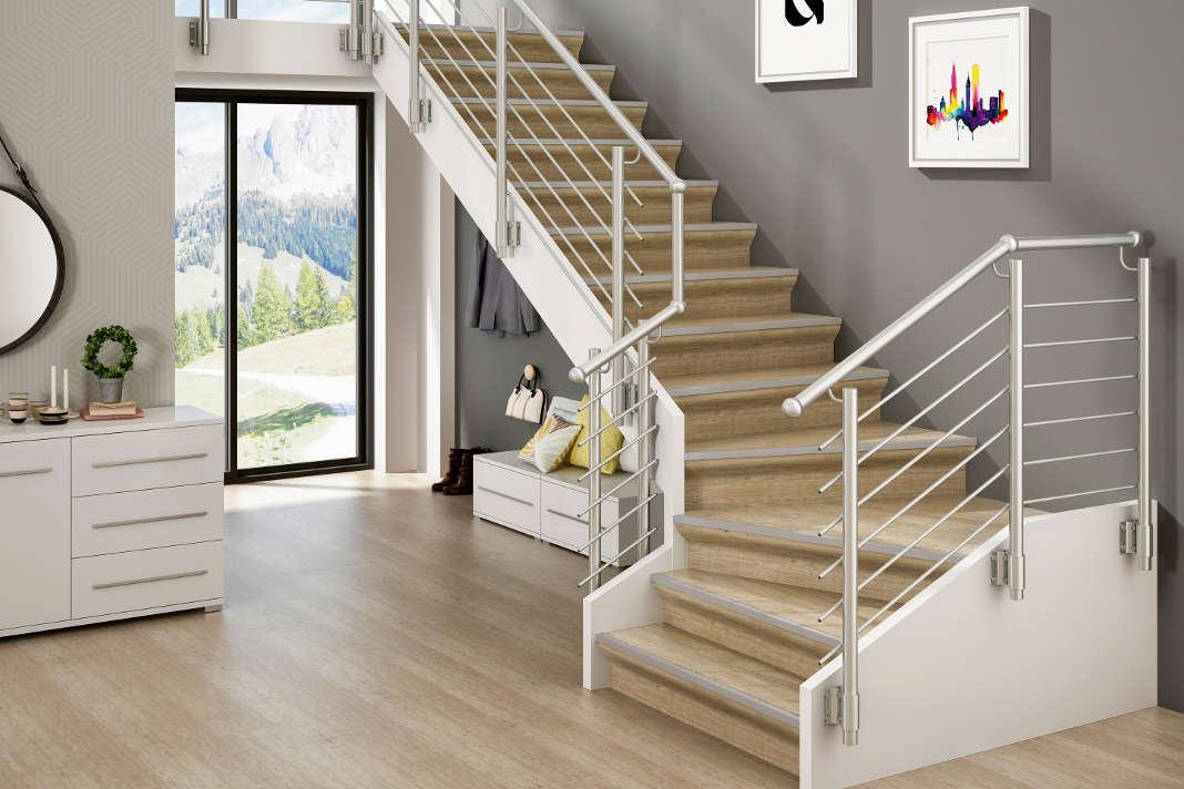 Die alte Treppe renovieren mit den Produkten von Portas. epr/Portas