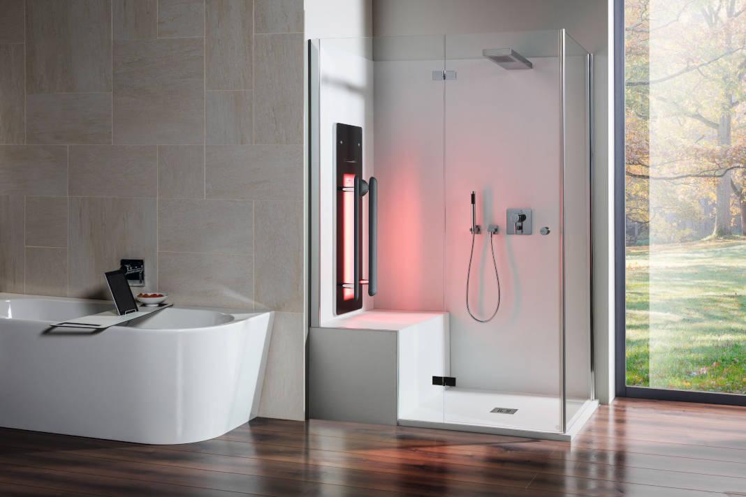 Infrarotpaneel für Dusche