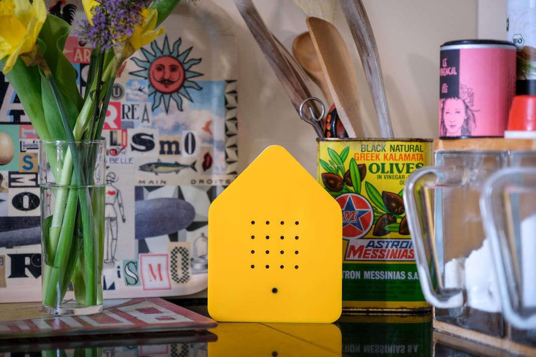 Zwitscherbox in knalligem Gelb - Relaxound GmbH