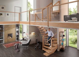 altersgerechte Treppe mit Halbstufen