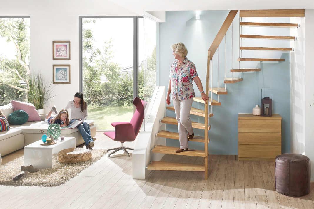 Treppe mit sicherem Handlauf