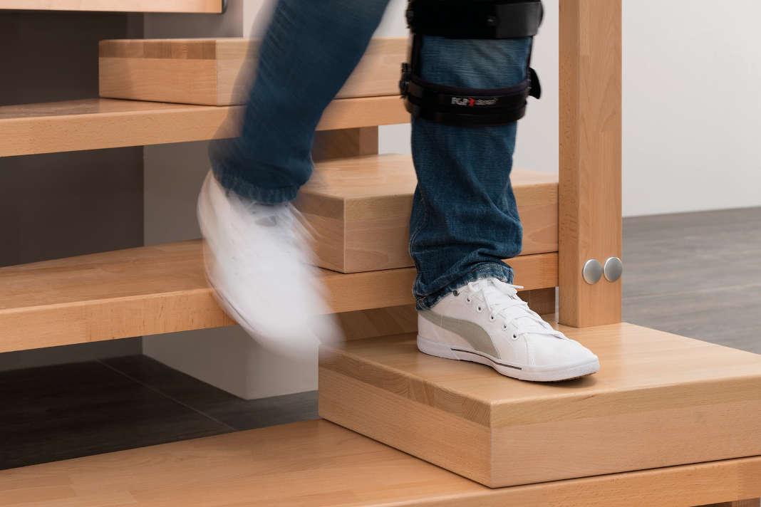 Treppe mit Halbstufen