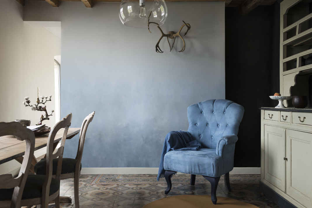 Wandfarbe von Dulux - Wandgestaltung im Retrostil
