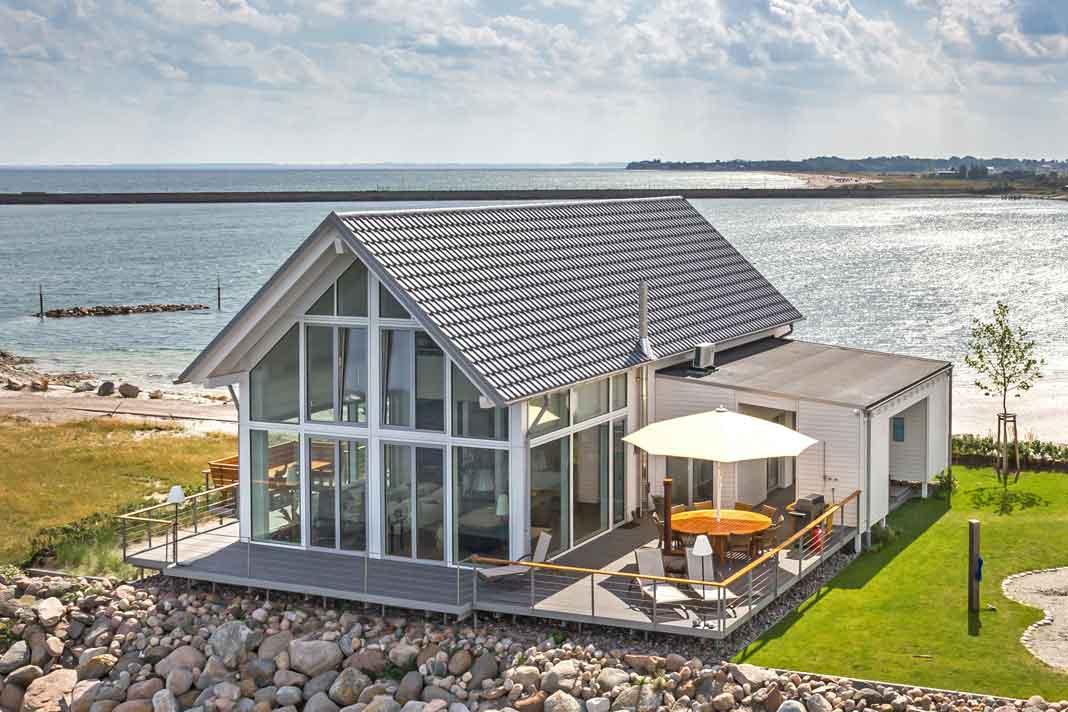 Einfamilienhaus mit Glasfassade