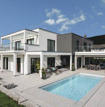 Villa von WeberHaus als Architektenhaus im Bauhausstil