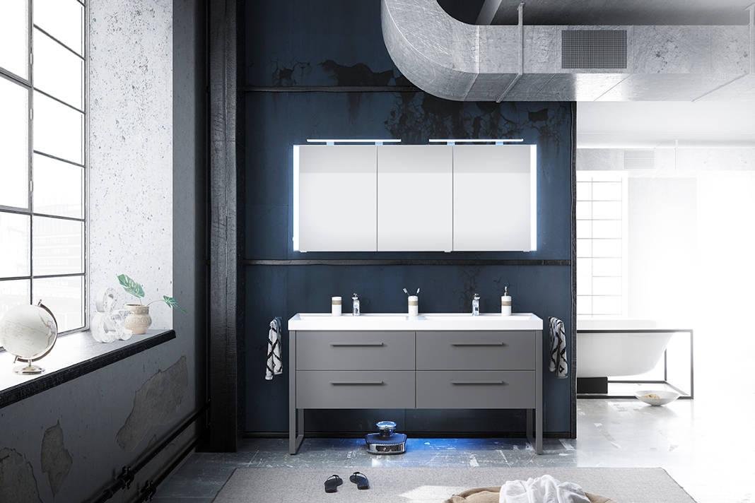 Spiegelschrank mit Aufsatzleuchten - Individueller Badezimmerspiegel - Pelipal
