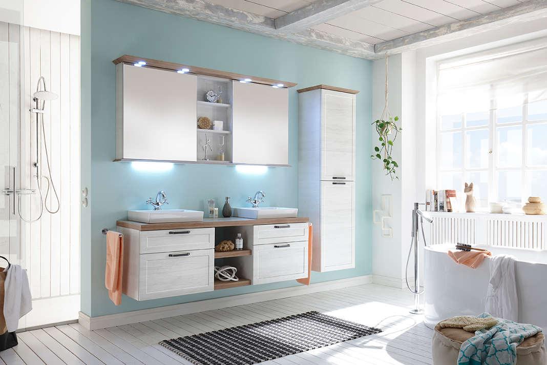 Individueller Badezimmerspiegel mit Stauraum - Pelipal