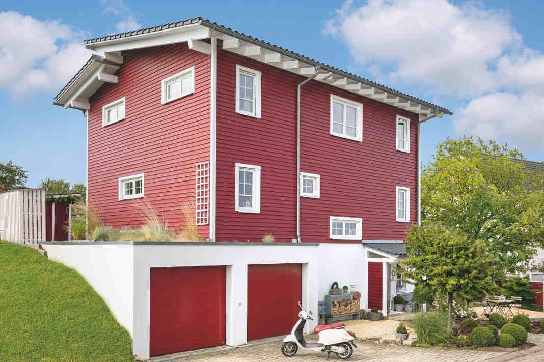 Eingang im Untergeschoss - Rotes Schwedenhaus - SchwörerHaus