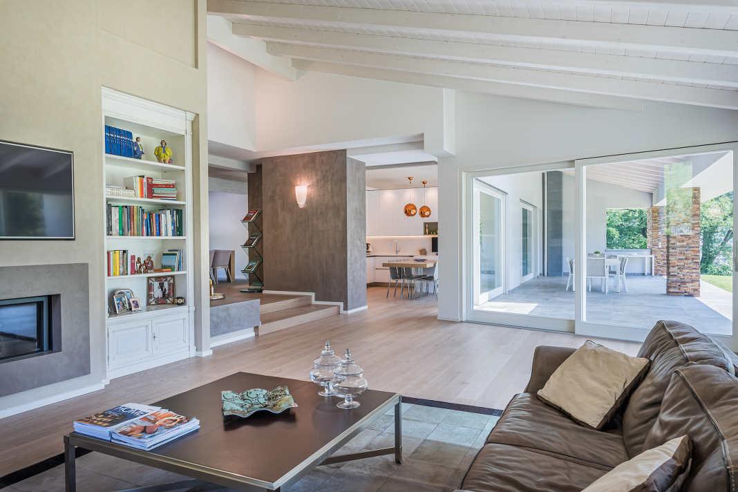 Moderner Wohnbereich im Rubner Haus Morandi