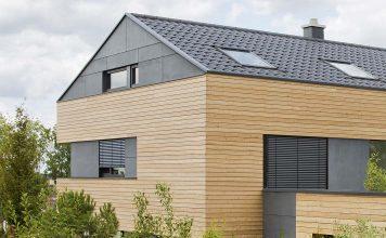 Modernes Einfamilienhaus mit Erlus Dachziegeln