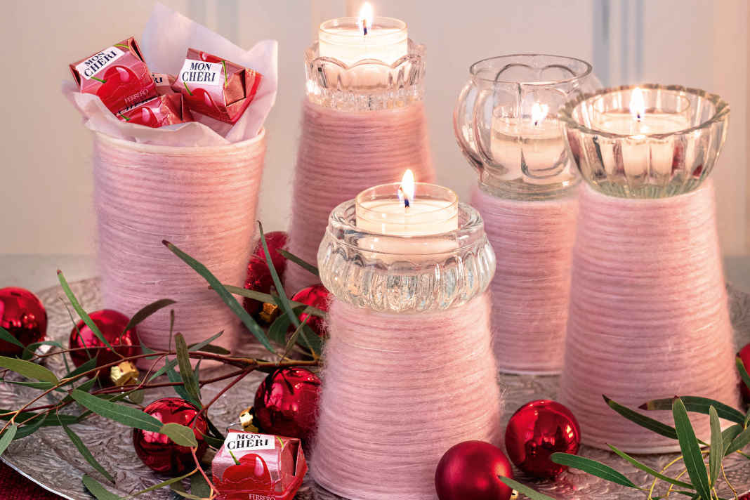 DIY-Adventskranz Joghurtbecher