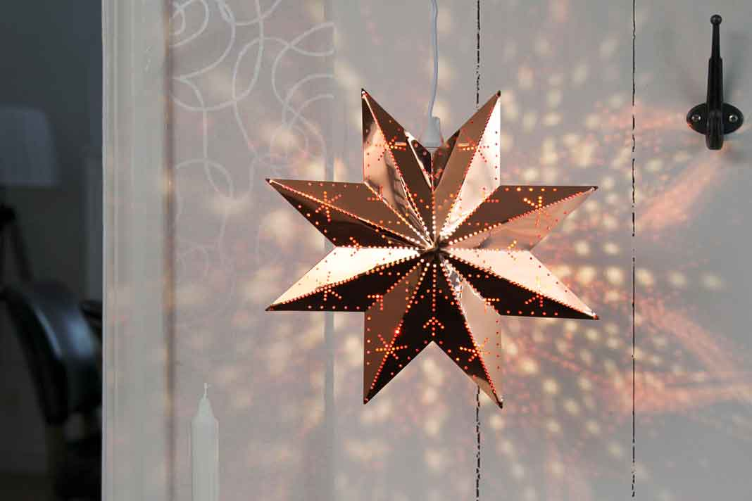 Weihnachtsstern Lampe