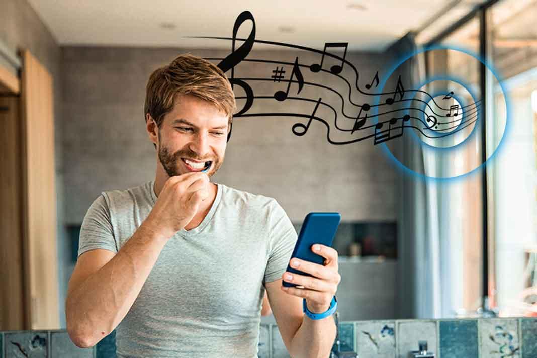 Musik Badezimmerspiegel