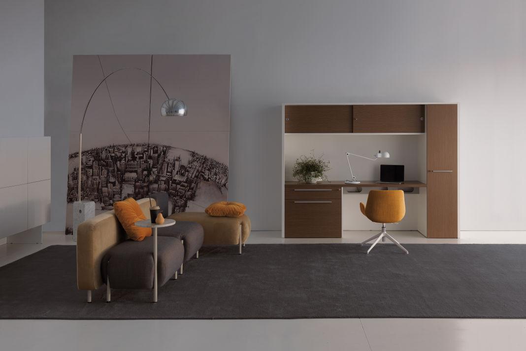 Home Office kleiner Raum - Schreibtisch - Oxford by DVO/ Ergo