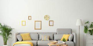 Wohnzimmer in den Pantone Farben des Jahres 2021