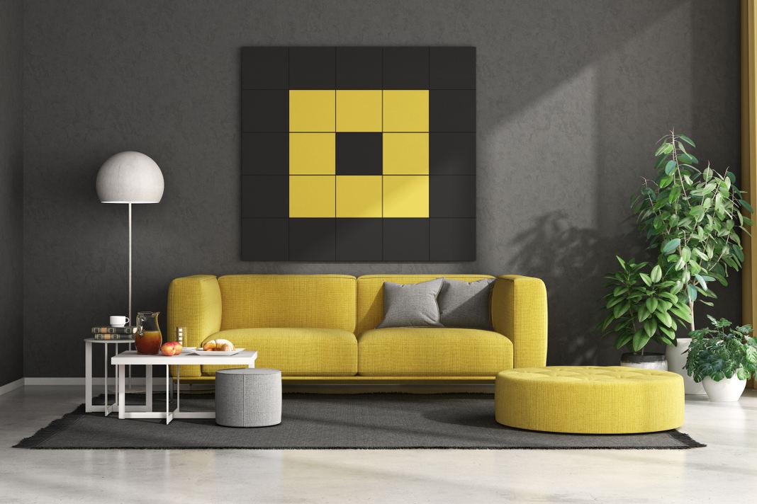 Pantone Farbe des Jahres 2021 modernes Wohnzimmer