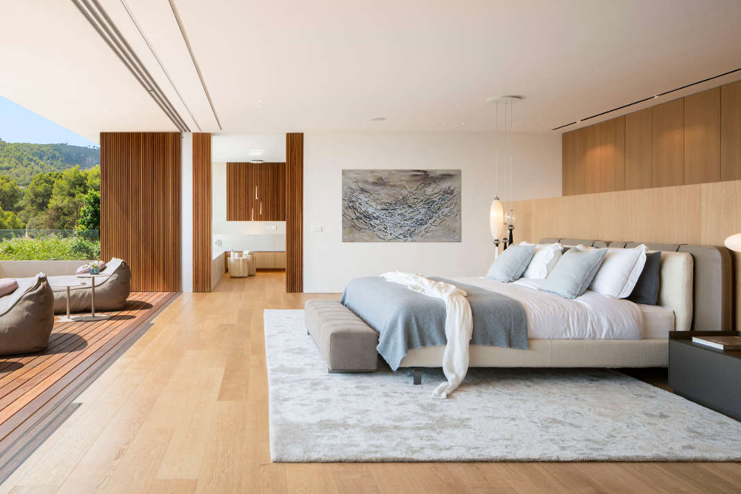 Schlafzimmer - zeitgenoessische Luxusvilla - Terraza Balear/ Mauricio Fuertes