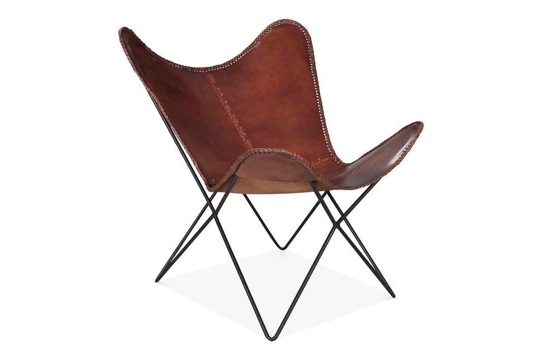 amerikanischer Wohnstil Sessel aus Leder