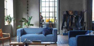 Sofabezug aus alten jeans von IKEA