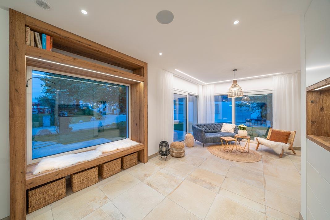 Wohnbereich mit Sitzfenster